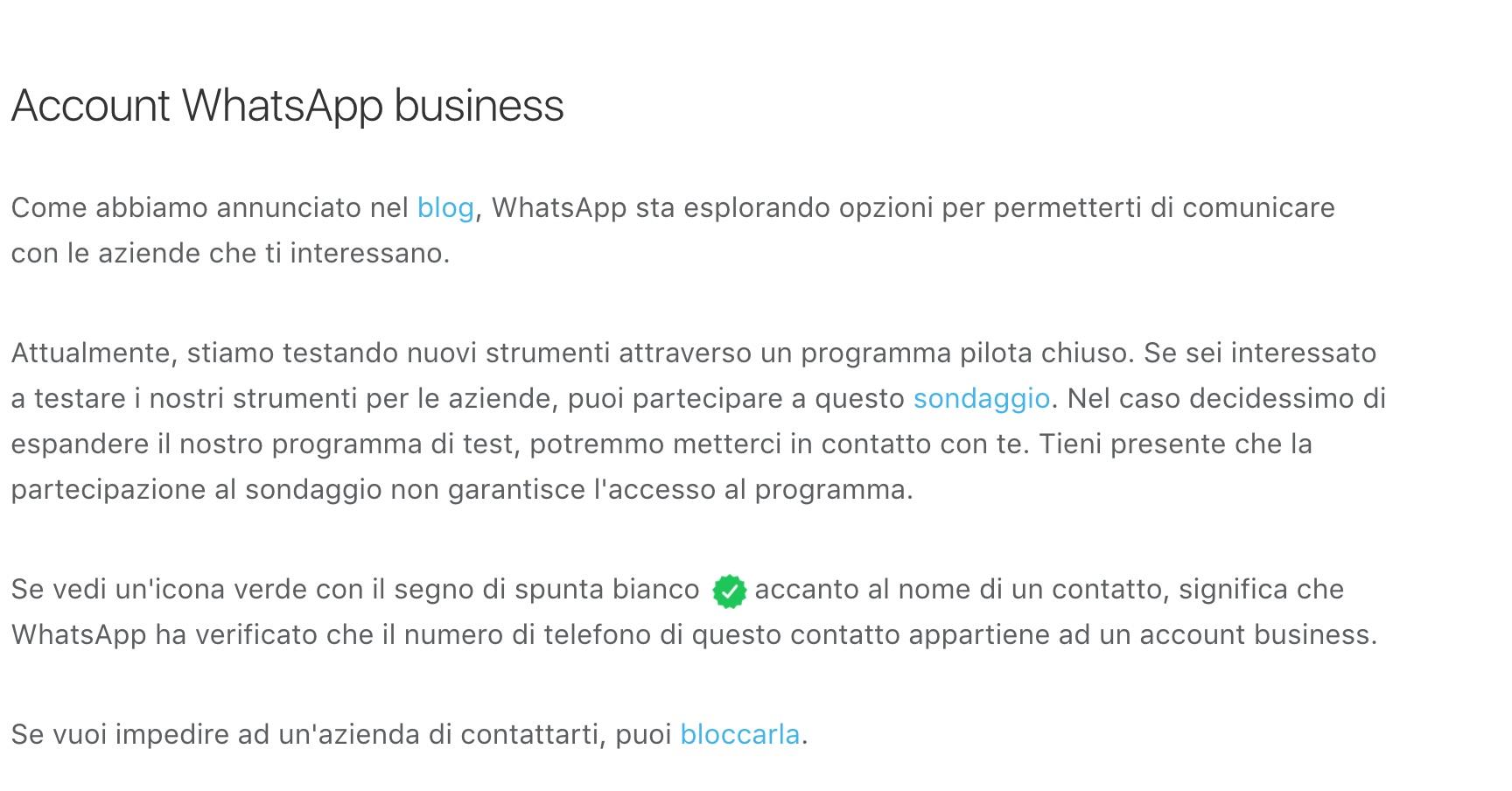 WhatsApp BUSINESS apre le porte alle aziende con la sua versione Aziendale