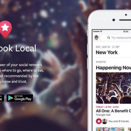 Facebook: Local diventa un'app