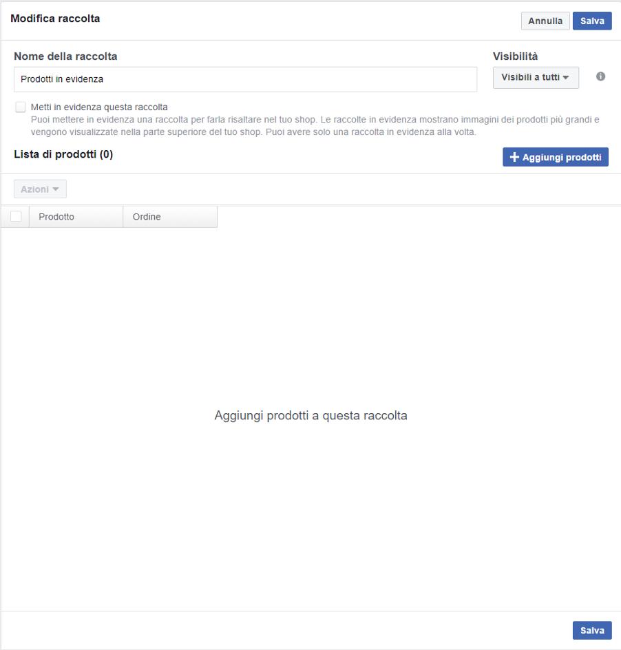 facebook shop ecommerce facebook vendere su facebook