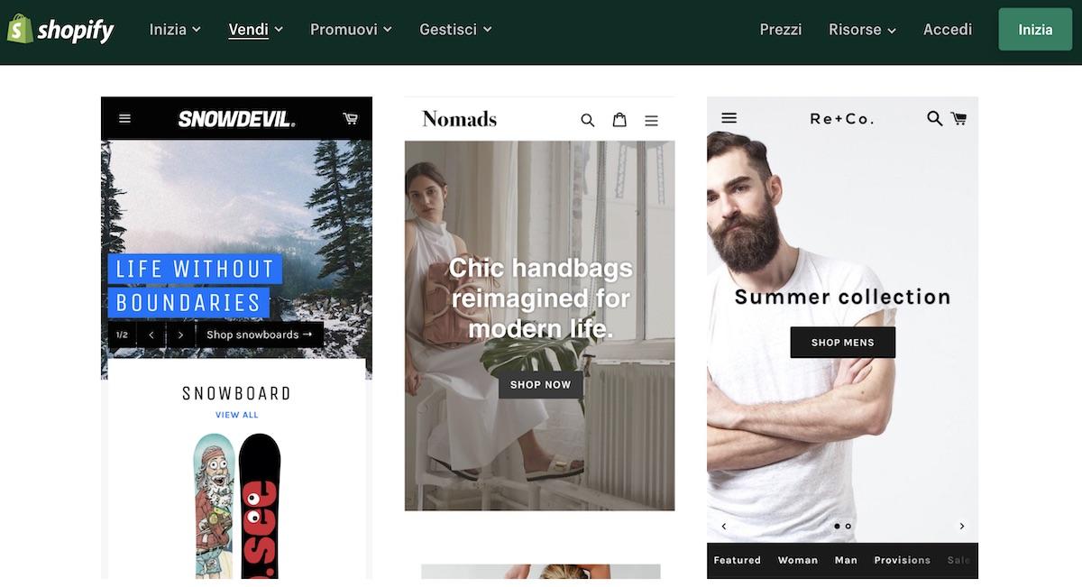 Realizzare siti con Shopify per muovere i primi passi nel mondo dell'e-commerce
