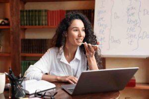 assistente vocale sito web